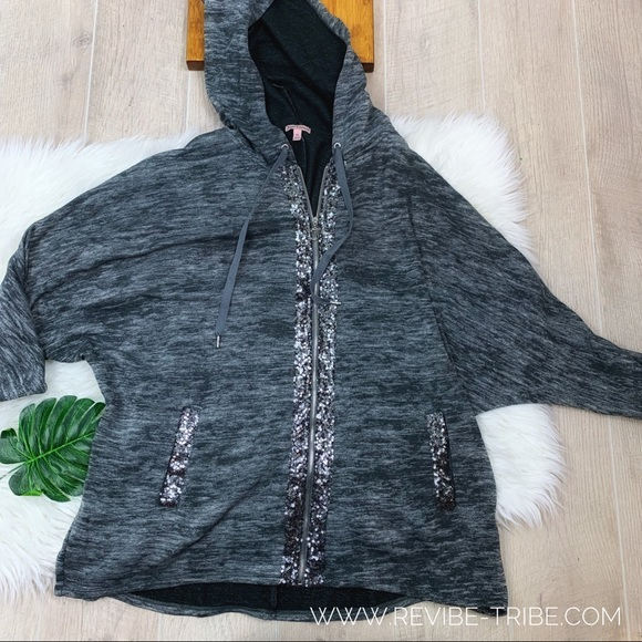 Juicy Couture Sweaters - Juicy Couture | Glitter Accent Zip Up